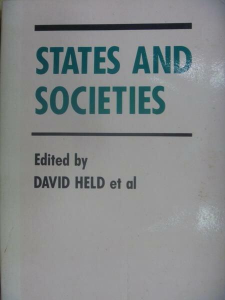 ~書寶 書T9/大學社科_OAD~States and societies_1983 ~