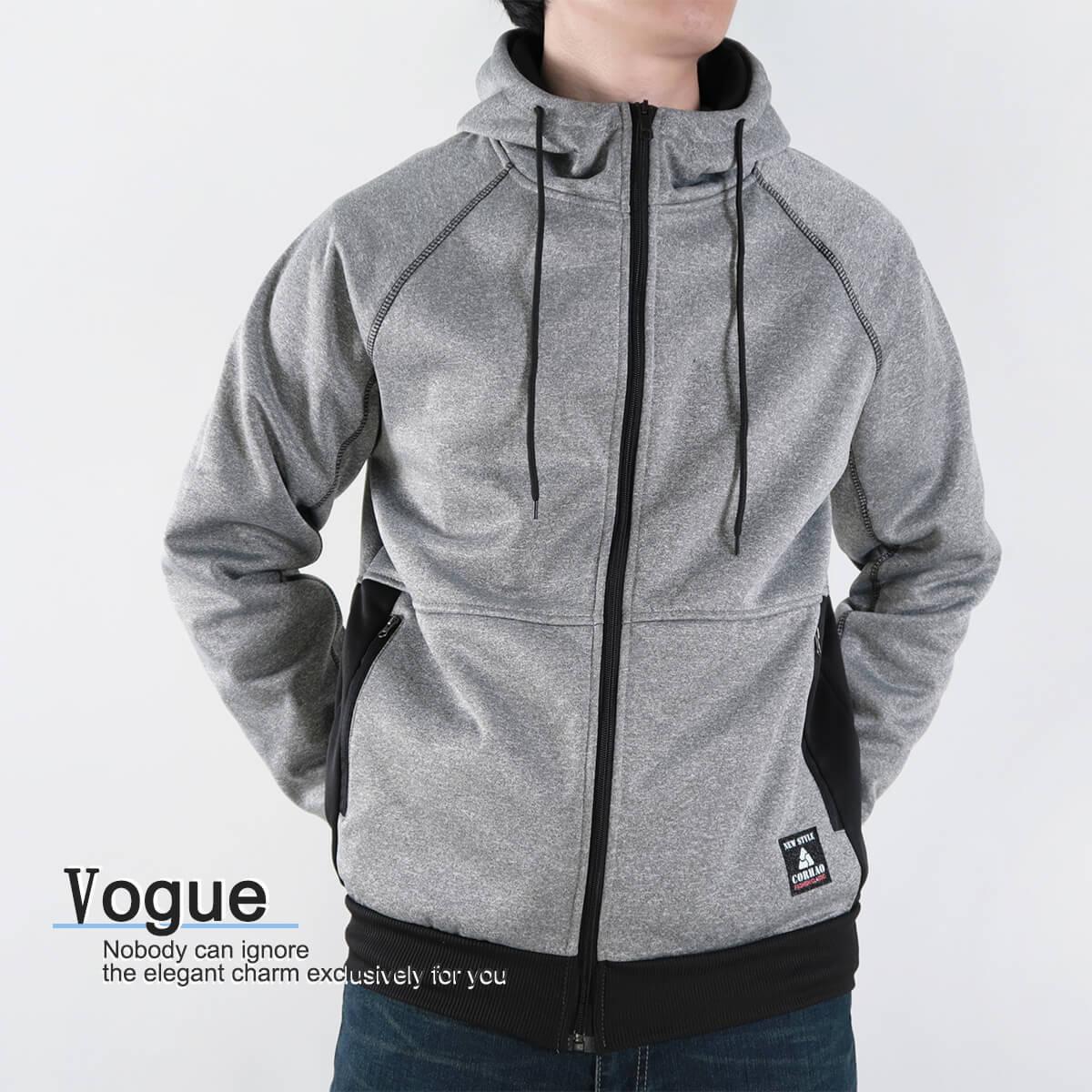 內刷毛連帽保暖外套 夾克外套 運動外套 休閒連帽外套 刷毛外套 黑色外套 時尚穿搭 WARM FLEECE LINED JACKETS (321-8916-01)淺灰色、(321-8916-02)深灰色、(321-8916-03)黑色 L XL 2L(胸圍46~50英吋) [實體店面保障] sun-e 4