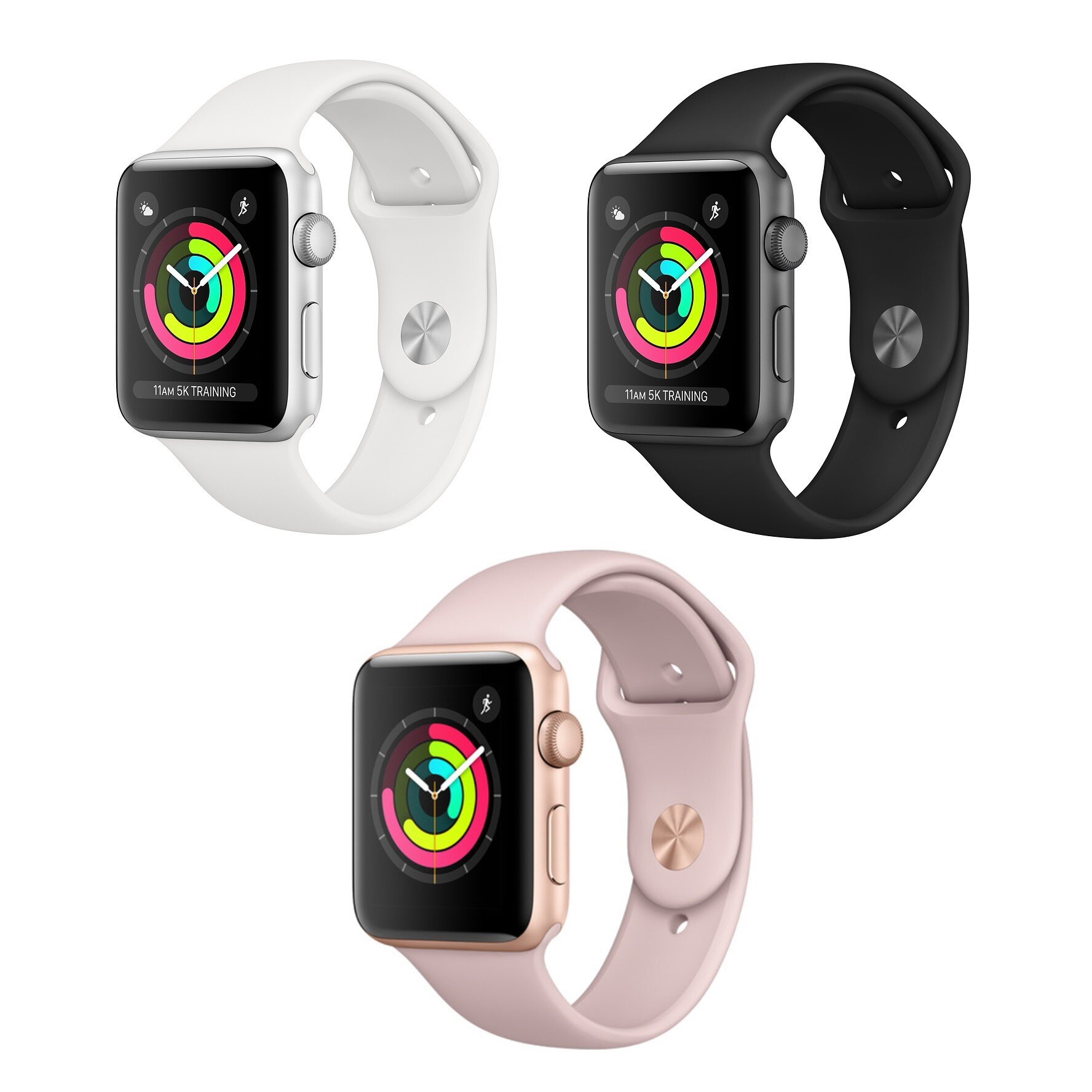 new product a3aa3 8a0f4 Apple Watch Series 3 - 38mm - GPS Only - Aluminum Case Smartwatch with  Sport Band