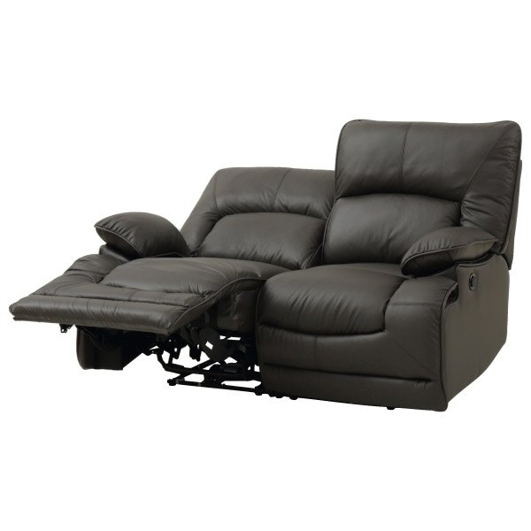 ◎(OUTLET)半皮2人用電動可躺式沙發 HIT DBR 福利品 NITORI宜得利家居 6