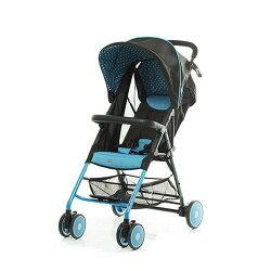 【淘氣寶寶】美國 ZOE T11 Urban 手推車(藍色)(附坐墊+防塵套+扶手)【總代理公司貨】