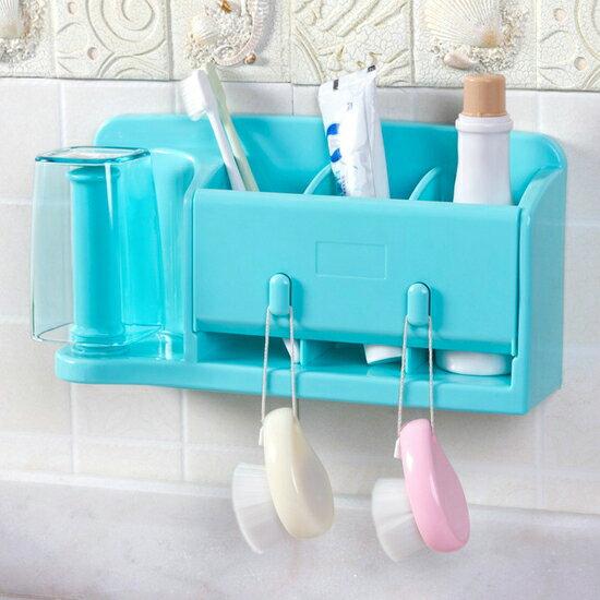 ?MY COLOR?創意黏貼式收納架 冰箱 保鮮膜 洗漱 餐具 衛浴 牆面 捲紙 掛勾 懸掛【Q258】
