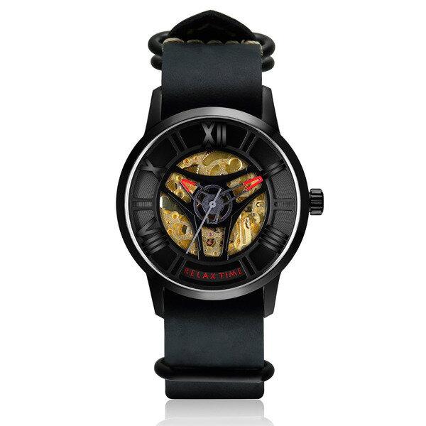 RELAXTIME限量機械錶款-黑X紅(RT-61-6)42mm
