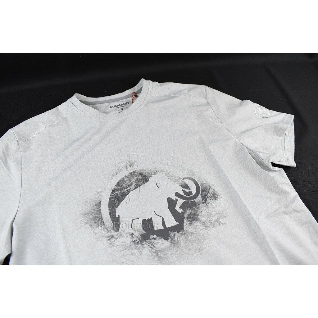 Mammut長毛象\tMA18 Trovat T-shirt短袖排汗快乾Logo T(大理石)MH309861A106  A143【Happy Outdoor 花蓮遊遍天下】