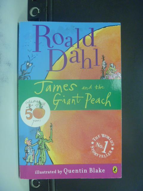 【書寶二手書T9/原文小說_GOW】James and the Giant Peach_Dahl