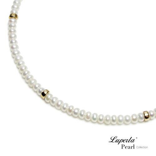 大東山珠寶 浪漫貴族 頸圈項鍊 歐美古典編織珠寶 14K天然珍珠項鍊 3