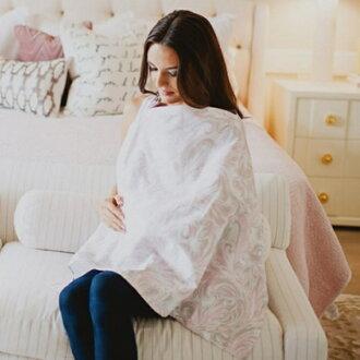【寶貝樂園】美國Mothers Lounge Udder Cover 美型哺乳巾 粉灰草履