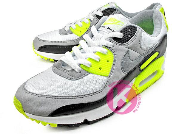 2020 經典復刻慢跑鞋 OG 版型 NIKE AIR MAX 90 白灰黑 螢光黃 網布 絨毛面 大氣墊 慢跑鞋 (CD0881-103) 0120 1