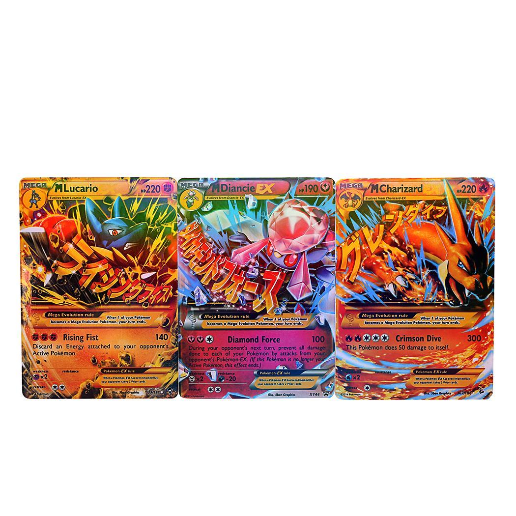 18pcs EX Card Set MEGA Poke Cards Charizard Blastoise Venusaur 5