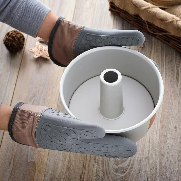 抗熱手套 廚房家用微波爐隔熱手套烘焙硅膠防燙烤箱加厚耐高溫專用手套1對 領券下定更優惠
