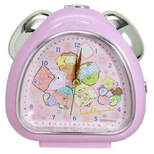 連續秒針三角形鬧鐘 san-x 角落小夥伴 造型鬧鐘 日本進口正版授權