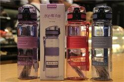 *vivi shop*超推~日本優之負離子健康瓶 水杯 創意便攜 耐摔 耐磨 防摔 大容量茶隔提繩隨手杯 男女情侶健身運動水杯 冷溫熱水壺