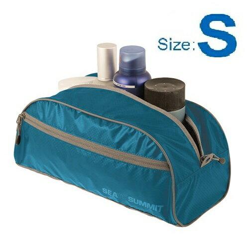 【【蘋果戶外】】Sea to summit ATLTBSBL 旅行用盥洗袋『S/2L/38g』旅行包 打理包 收納袋 化妝包 出國必備 萊姆綠 桃紅 兩色 STSATLTBSBK