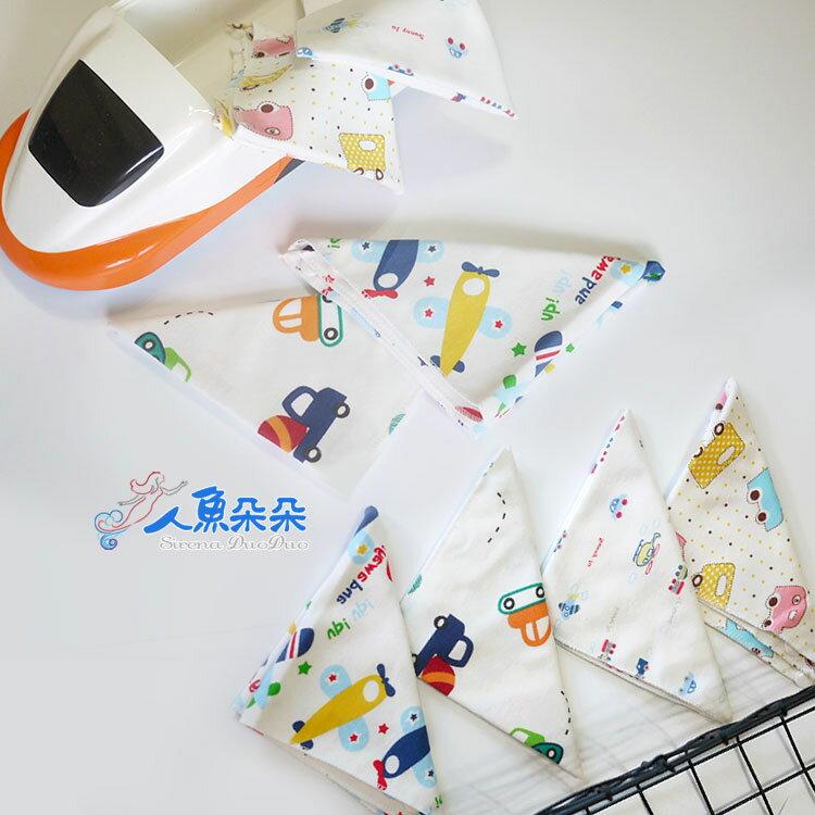 棉質三角巾 (不挑款) 純棉雙面口水巾 三角巾  雙釦領巾圍兜 兒童嬰兒卡通口水巾 Rainnie 現貨 長期 7