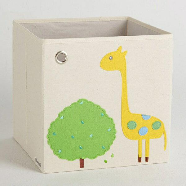 (1800折200) 美國【KAIKAI & ASH】寶寶動物系列收納箱- 萌萌長頸鹿 摺疊收納箱 玩具收納箱  /  整理箱  /  設計風  /  棉麻  /  不織布 1
