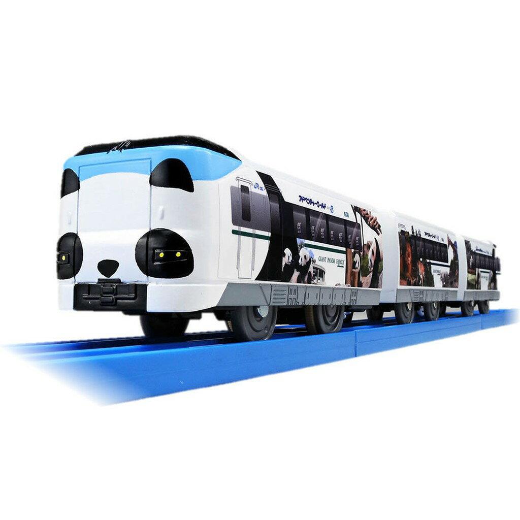 【Fun心玩】TP14766 麗嬰 日本 PLARAIL 多美 鐵道王國 S-24 287 熊貓列車 火車 模型 玩具