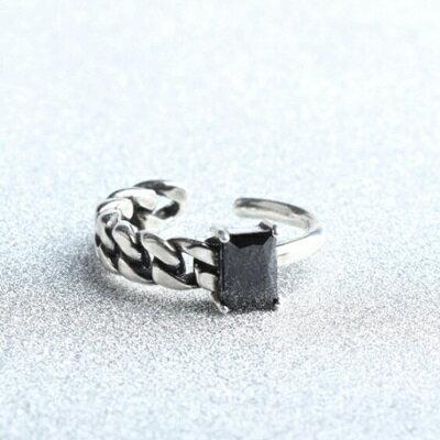 ~925純銀戒指瑪瑙開口戒~麻花線條復古 情人節生日 女飾品73gp22~ ~~米蘭 ~