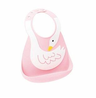 【淘氣寶寶】MakeMyDay型男名媛-立體矽膠俏圍兜(小小白天鵝)