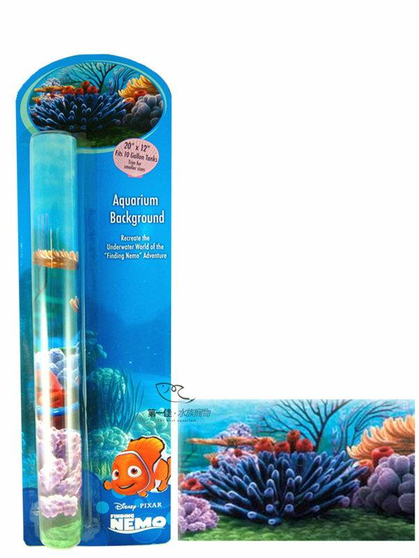 [第一佳 水族寵物] 美國PENNPLAX 卡通飾品系列-海底總動員(授權販售) [深海珊瑚背景圖]