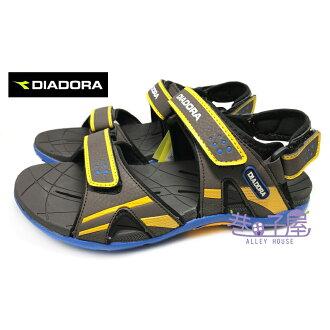 【巷子屋】義大利國寶鞋-DIADORA迪亞多納 男童三大機能排水兩穿式運動涼鞋/拖鞋 [3213] 咖啡 超值價$398