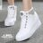 【KP827】綁帶休閒鞋 懶人鞋 6.5CM厚底隱形內增高 PU皮革材質 2色 1