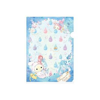【真愛日本】17030200026日本製A4文件夾-馬戲團美人魚水滴藍 SAN-X Sentimental Circus 憂傷馬戲團  收納 辦公用品 資料夾