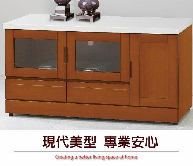 【綠家居】艾科維 時尚3.8尺實木石面電視櫃/視聽櫃