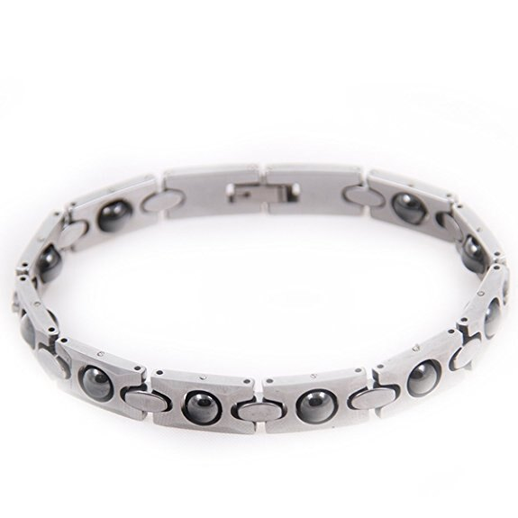 420eee10154 CrossCreek Mens Tungsten Magnetic Therapy Bracelet In Gift Box 6618-0011-19  0