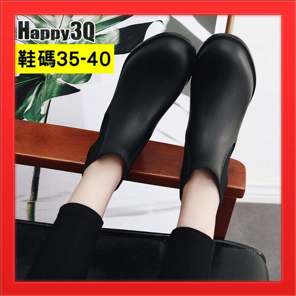 防水雨鞋基本款雨靴短筒雨鞋素色款百搭女鞋防水雨鞋-黑35-40【AAA4380】