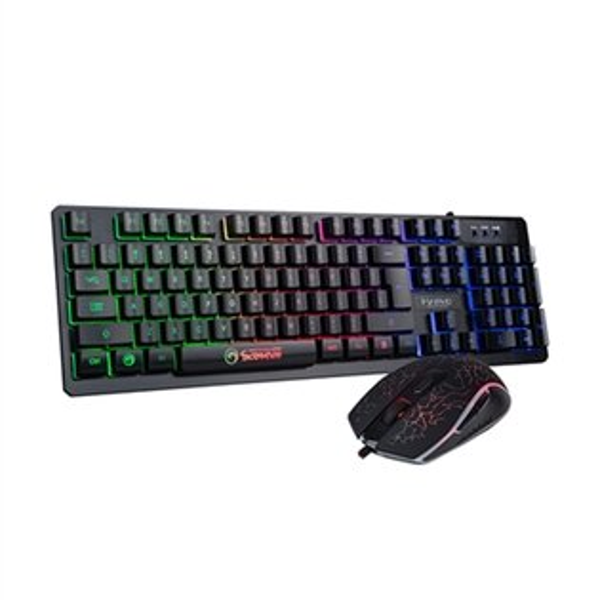 MARVO【KM408】電競鍵盤多彩背光&滑鼠鍵鼠組鍵盤滑鼠組電競鍵盤遊戲鍵盤電腦鍵盤【迪特軍】