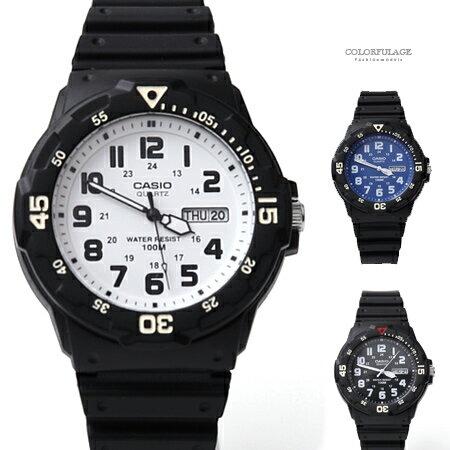 CASIO卡西歐休閒運動風手錶柒彩年代【NEC13】單支