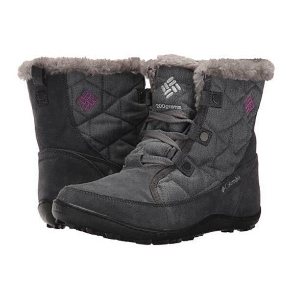 《台南悠活運動家》COLUMBIA UBL27580 防水保暖雪靴-藍灰色