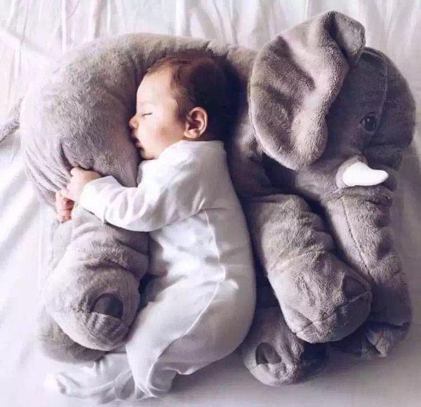 大象抱枕靠枕嬰兒枕安撫枕哺乳輔助枕042585海渡