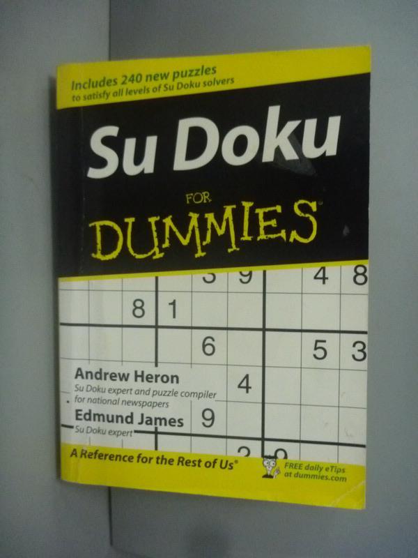 ~書寶 書T1/科學_KMM~Sudoku for Dummies_Heron Andre