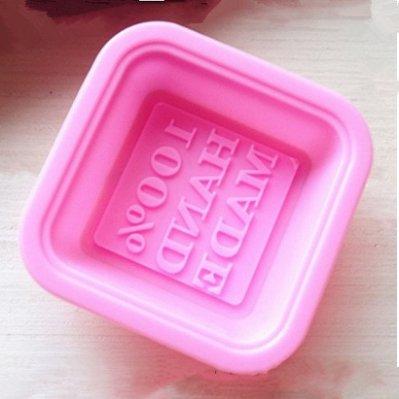 心動小羊^^diy手工皂模具供應100%hand made 單孔矽膠手工皂模
