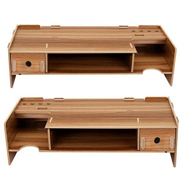 單抽屜款 加厚5mm DIY木質拼裝抽屜電腦螢幕架 桌面顯示器增高架 辦公桌面收納架【SV6733】BO雜貨
