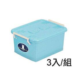 【nicegoods】彩瓷-滑輪整理箱(SS)(12公升)(3個/組)(掀蓋 塑膠 收納箱)