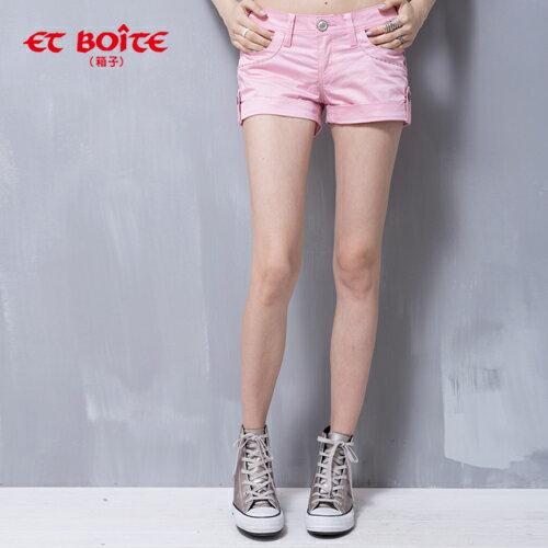 【5折限定↘】ET BOiTE 箱子  Amour心型短褲(粉色) 0