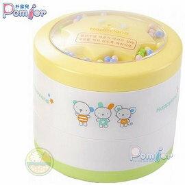 【兒童用品】朴蜜兒-韓製滿天星雙層自動粉撲盒