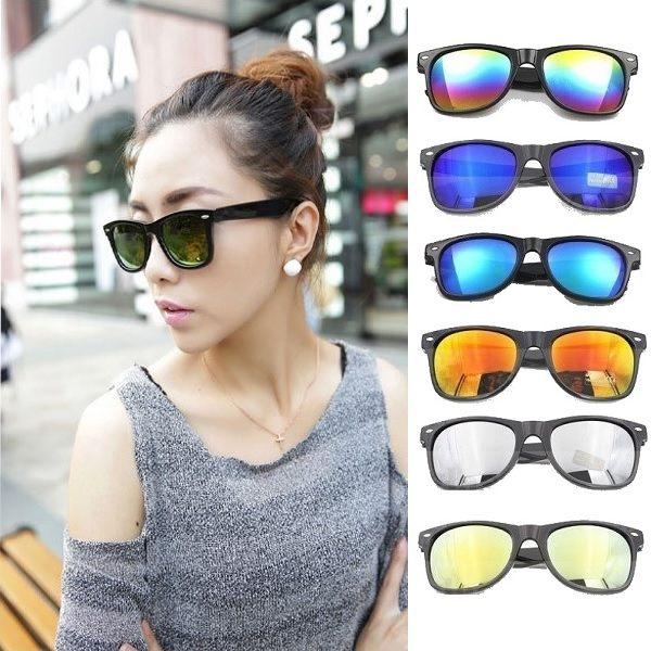 反光鐳射銀點粗框墨鏡 太陽眼鏡 可搭爆乳比基尼背心隱形胸罩涼鞋長裙罩衫【RG319】