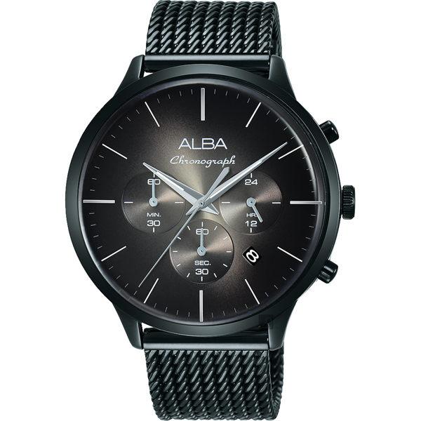 ALBA 雅柏 VD53-X271SD(AT3B77X1)日系米蘭計時男錶 / 44mm