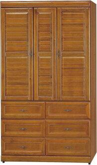 【石川家居】EF-126-1 施勝發正樟木4*7尺實木衣櫃 (不含其他商品 ) 需搭配車趟
