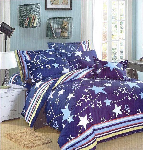 ?臺灣製?舒柔棉磨毛超細纖維床包組《HW-0015》5X6.2尺雙人床包組+兩用被 四件組◤彩虹森林◥