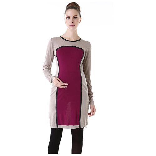 49d5ed0f97 Luxury Lane  Momo Maternity Colorblock Sweater Dress