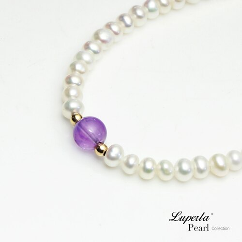 大東山珠寶 氣質婉約 紫水晶珍珠14K手鍊 氣質白 1