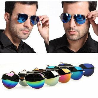 (現貨特價‧快速出貨)50%OFF SHOP【J003728Gls】經典款反光彩膜太陽眼鏡鍍膜復古雷朋 附眼鏡盒 防紫外線 明星款 反光鏡面