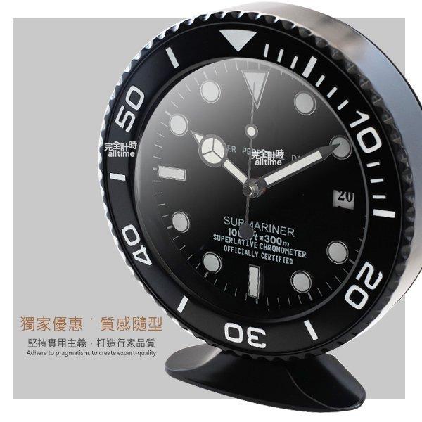 完全計時手錶館│SUBMARINER 獨家典藏 簡約經典名品設計 水鬼掛鐘時鐘座鐘 現貨 霧黑 經典特色 可掛