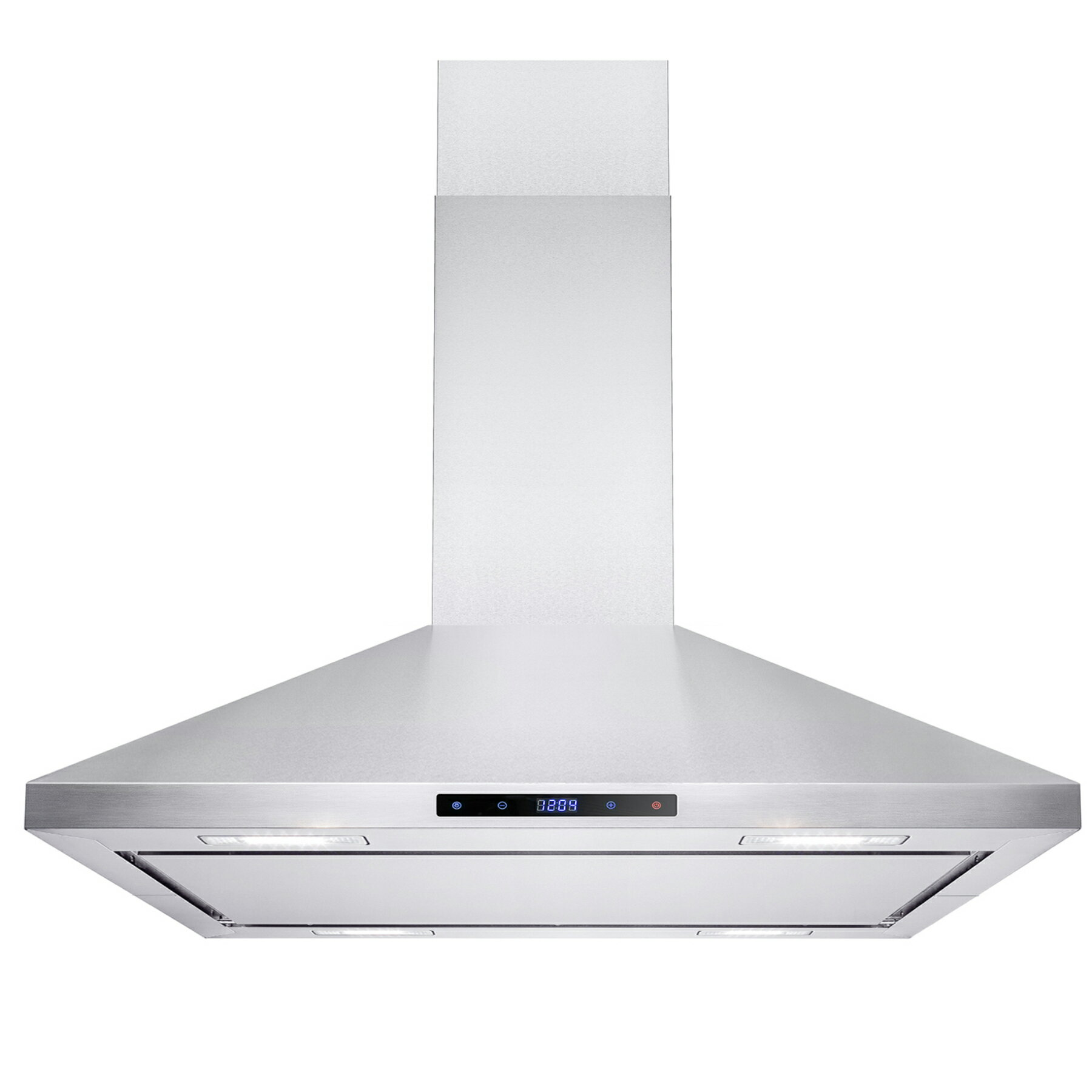 "36"" Stainless Steel Island Mount Range Hood RH0174 Touch Screen Display Light Lamp Baffle Filter 0"
