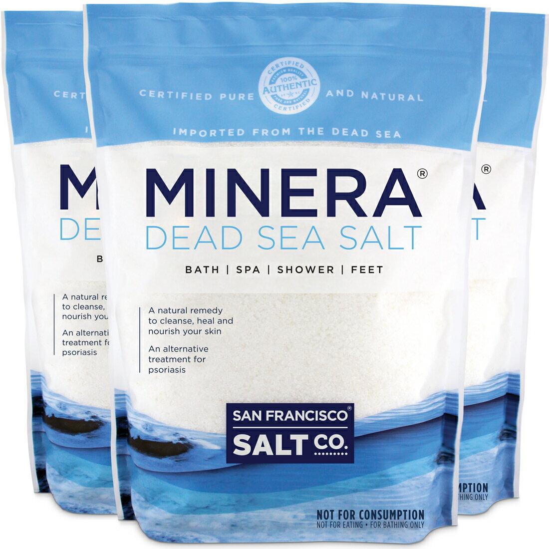 Minera Dead Sea Salt 60 lb. (Qty. 3, 20 lb. Fine Grain Bulk Bags) 0