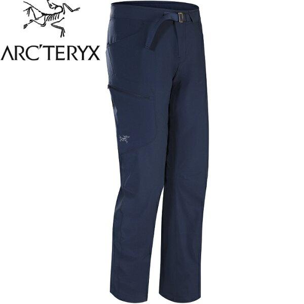Arcteryx始祖鳥休閒褲登山褲快乾排汗軟殼褲Lefroy男款17519夜景藍